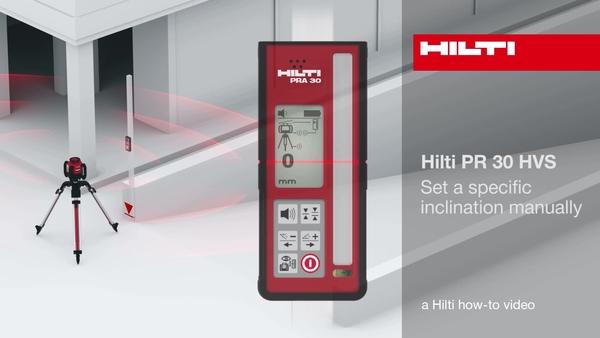 PR30-HVS - handmatige hellinginstelling.