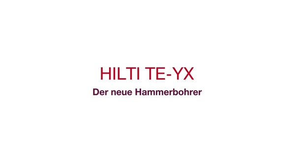 TE_YX_New hammer drill bit_Promotional video