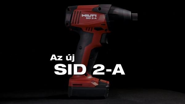 SF 2-A. Az új 12 V-os vezeték nélküli fúróvezető