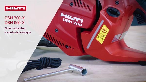DSH 700-X, DSH 900-X - Troca do cabo de arranque.
