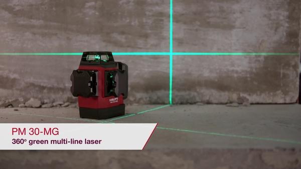 VÍDEO PROMOCIONAL mostrando as funções principais do laser multilinhas verde PM 30-MG