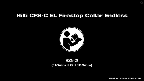 CFS-C EL Firestop Collar. Installation KG-2.