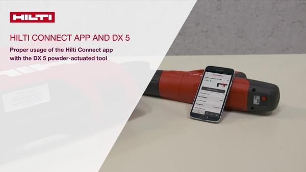 วิดีโอแนะนำวิธีใช้: เราจะอธิบายวิธีเชื่อมต่อเครื่องมือกระตุ้นด้วยผง DX 5 Hilti กับ Hilti Connect App วิธีการที่คุณจะได้รับประโยชน์จากข้อมูลและบริการที่คุณสามารถเข้าถึงในแอพพลิเคชั่น