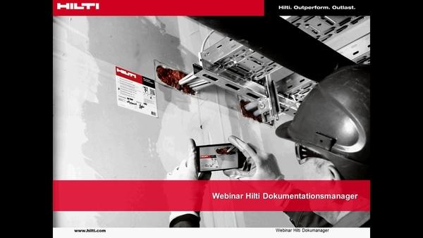 Webinar CFS-DM Firestop Documentation Manager