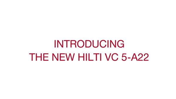 Lernen Sie den VC 5-A22 kennen, den neuen tragbaren Akku-Bausauger (22V)
