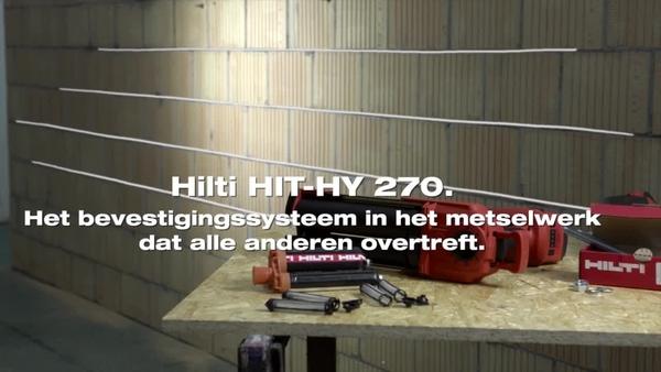 HIT-HY 270 - bevestiging in metselwerk met HDE automaat.