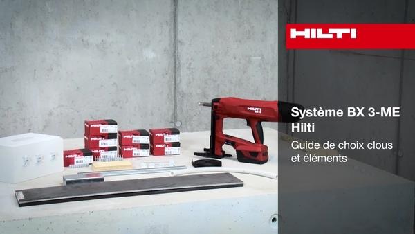 Système BX3– Présentation et sélection de clous.