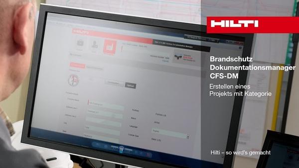 Brandschutz-Dokumentationsmanager CFS-DM – Erstellen eines Projekts mit Kategorien.