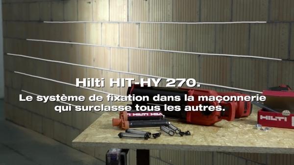 HIT-HY270 - Fixation dans la maçonnerie avec la pince d'injection HDE.