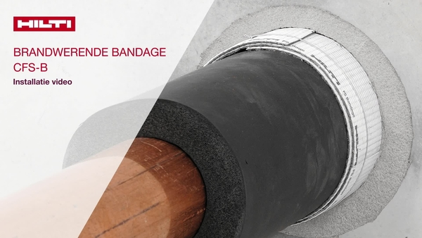 Deze video toont de juiste installatie van de brandwerende bandage Hilti CFS-B.