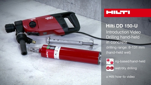DD 150-U – Introduction (hand-held wet drilling)