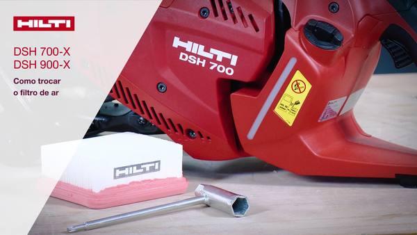 DSH 700-X, DSH 900-X - Troca de filtro de ar.