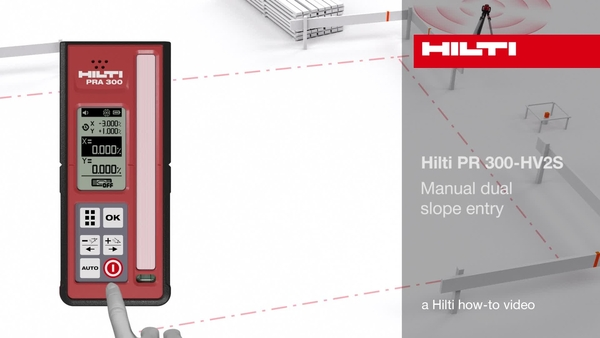 PR 300-HV2S – Manual dual slope entry