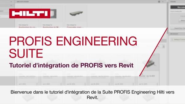 Tutoriel d'introduction de PROFIS Engineering Suite à Revit.