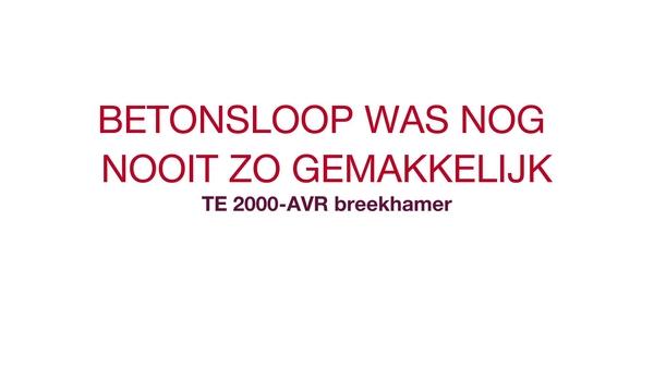 TE 2000 getuigenis: luister naar wat klanten vinden van onze laatste innovaties, de TE 2000-AVR.