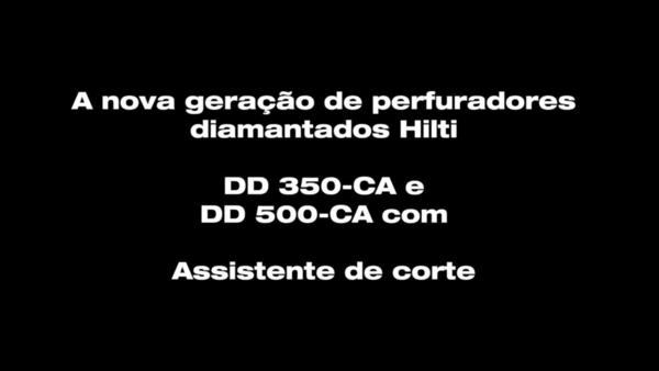 DD 350-CA. O perfurador diamantado com auxiliar de corte.
