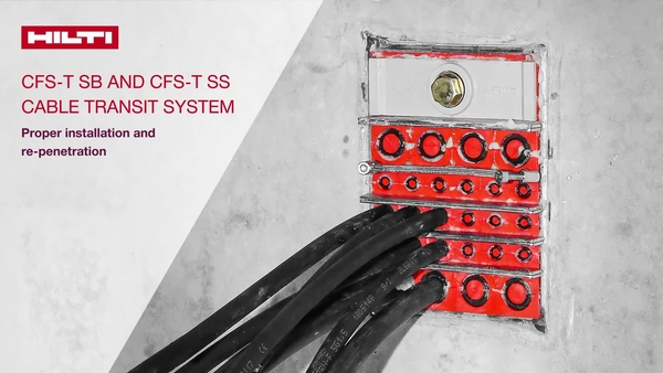 How to video of CFS-T SB and CFS-T SS cable transit system, proper installation, re-penetration and application options - !