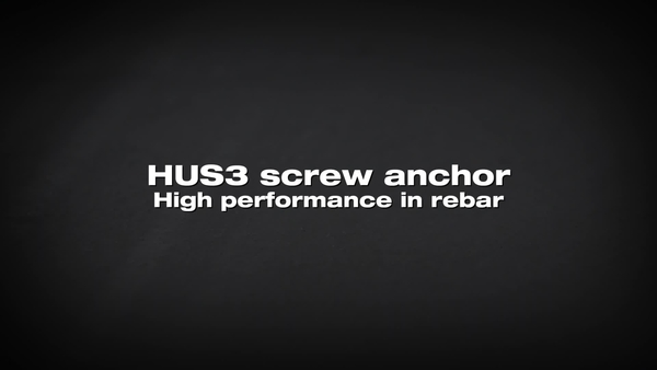 HUS3 screw anchor. Performance on rebar