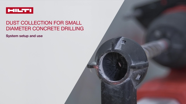 Instructional video on how to use Hilti combihammers with onboard dust removal systems.