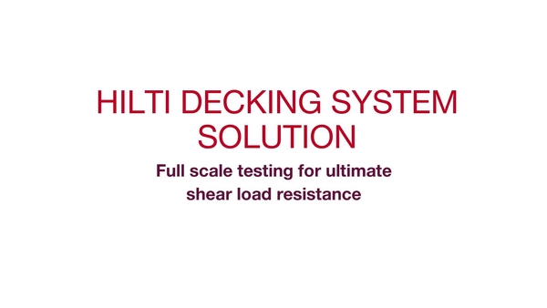 Decking Full Scale Testing
