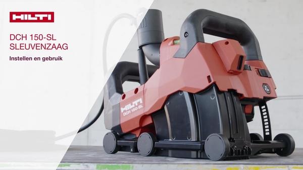 De sleuvenzaag voor wand- of vloersleuven en kabels, leidingen en buizen gebruiken in diverse basismaterialen.