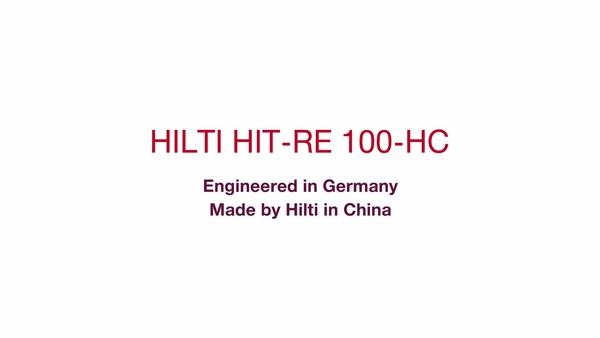 HIT-RE 100-HC, Engineered in Germany, Made by Hilti in China (Short).