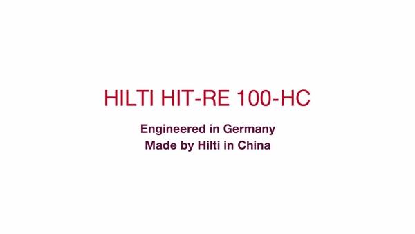 Anclajes HIT-RE 100-HC, diseñados en Alemania, fabricados por Hilti en China (corto).