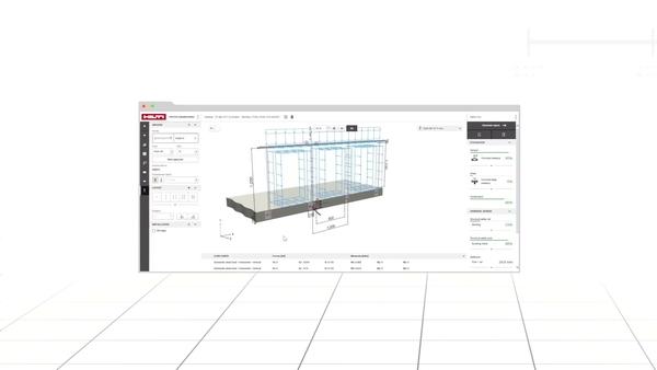 Découvrez comment Hilti PROFIS Engineering Suite s'intègre parfaitememnt avec un logiciel de calcul de structure tiers tel que Dlubal. Un onglet de favoris et un bouton d'annulation permettent des calculs d'ancrages rapides et maximisent
