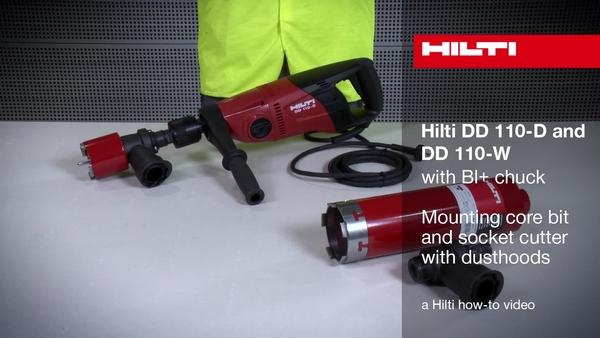 DD 110-D/W (mandril BI+): montaje de las cubiertas antipolvo