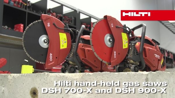 Hilti DSH 700-X and DSH 900-X gas saws