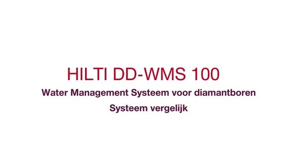 Constante watertoevoer en een schone bouwplaats tijdens het borenDe nieuwe manier van diamant boren met DD-WMS 100 Water Management Systeem