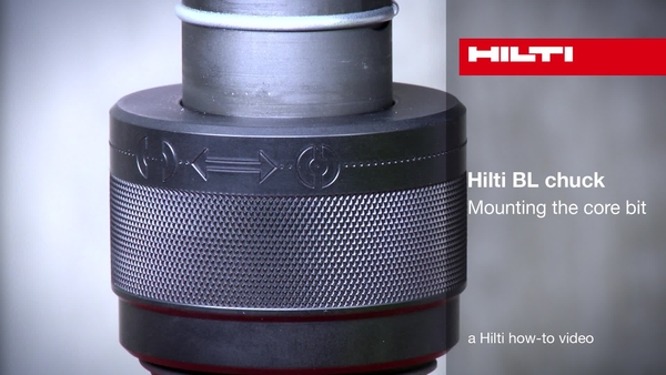 Hilti BL chuck – Fitting the core bit