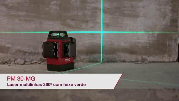 VÍDEO PROMOCIONAL que mostra as principais características do laser verde multilinhas PM 30-MG.