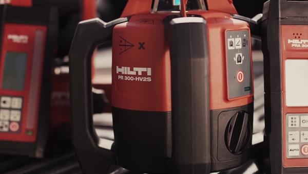 Hilti rotating laser PR 300-HV2S, PR 30-HVS and PR 2-HS.