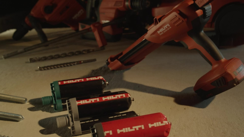 Hilti Anchor Portfolio - Fast Cure Adhesives and Anchor Rods.