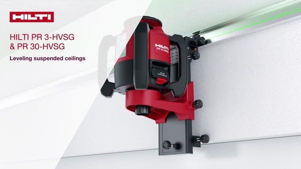 How-to video showing on a step-by-step basis how to use our green rotating lasers, PR 3-HVSG and PR 30-HVSG, for horizontal leveling of suspended ceilings