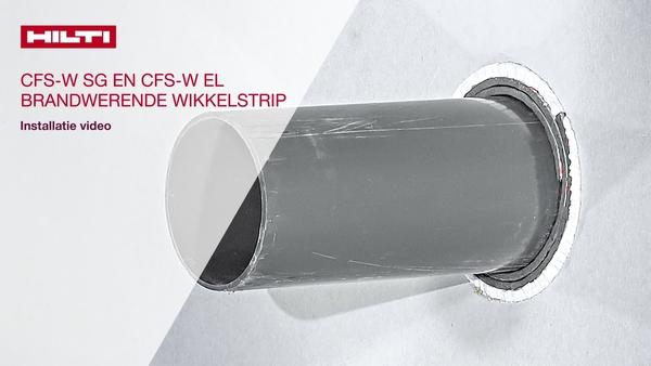 In deze video ziet u hoe u de brandwerende Hilti-wikkelstrips CFS-W SG en CFS-W EL plaatst conform de DIN-normen.