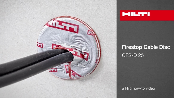 Firestop cable disc CFS-D 25 How-to-video ETA