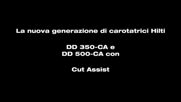 DD 350-CA - La carotatrice con cut assist