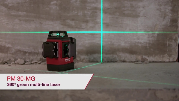 PROMO VIDEO showing the key features of the PM 30-MG green multi-line laser