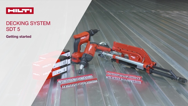 We explain you how to use a highly productive SDT 5 screw fastening decking system