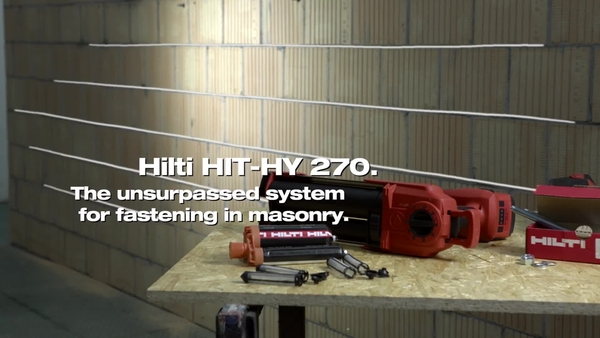HIT-HY 270 – fastening in masonry with the HDE dispenser.