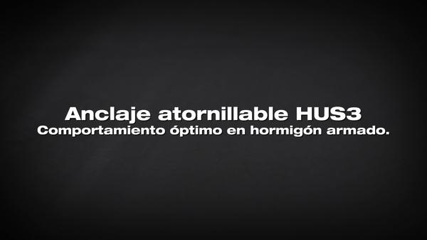 Anclaje de tornillo HUS3. Rendimiento en varillas de refuerzo.