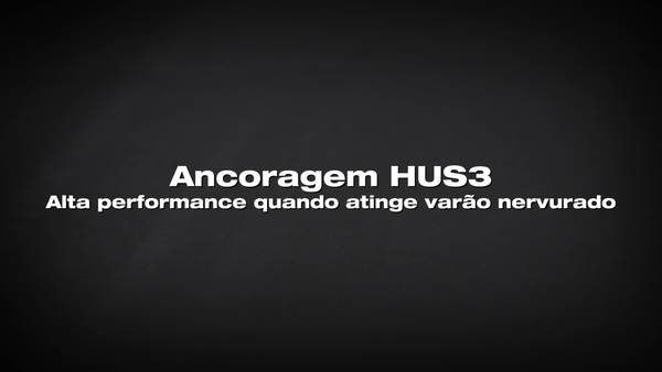Ancoragem tipo parafuso HUS3 Desempenho em vergalhão.
