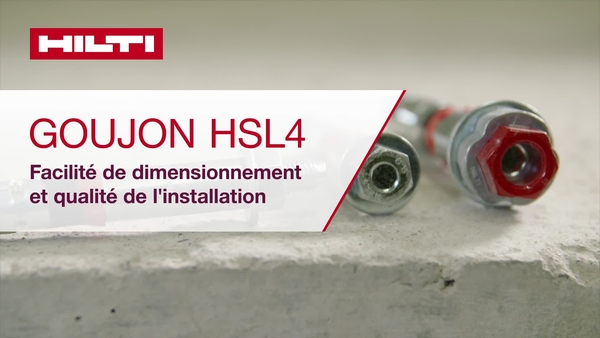 Goujon HSL4 - simplicité de conception et qualité d'installation.