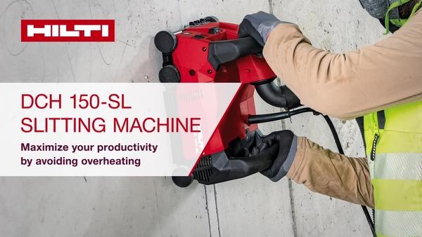 Rezalnik zidnih utorov DCH 150-SL, povečajte svojo učinkovitost brez pregrevanja