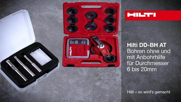 DD-BH AT – Bohren ohne Anbohrhilfe für Durchmesser von 6 bis 20 mm.