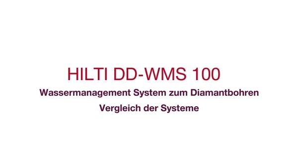 Konstante Wasserversorgung und eine saubere Baustelle während des BohrensDie neue Art des Diamantbohrens mit dem DD-WMS 100 Wassermanagementsystem