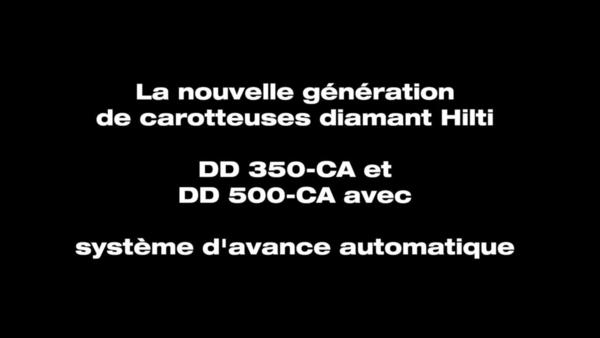 DD 350-CA. La carotteuse avec assistance de coupe.