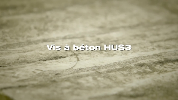 HUS3_vis d'ancrage. Performance dans le béton ancien.
